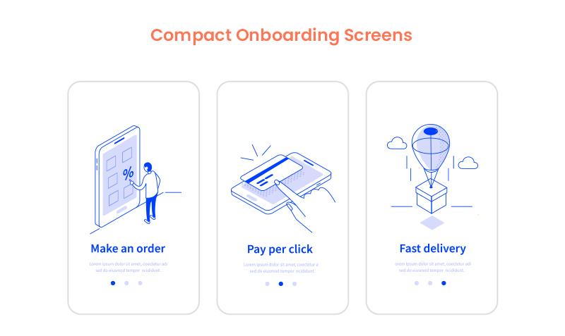 mobile app onboarding screens