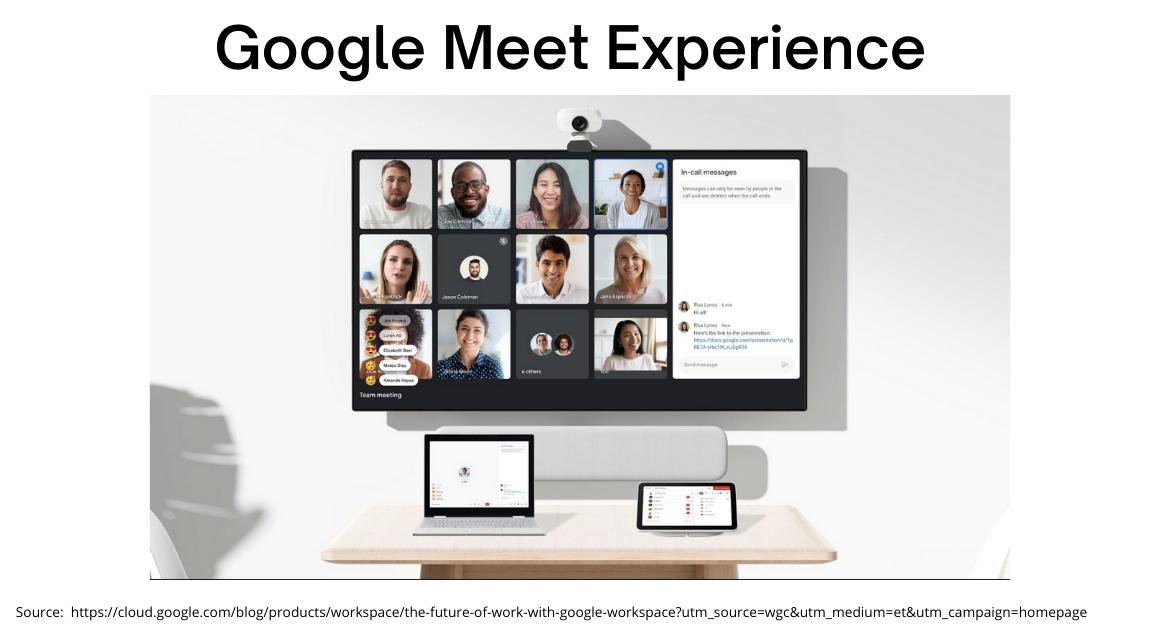 Google Meet Experience