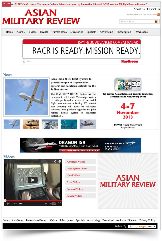 Asian Military Review- WP Portfolio Thailand - Orange Mantra
